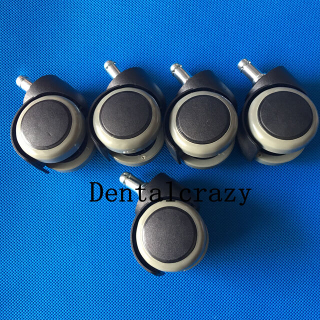 Teeth Whitening 5pcs Dentist Chair Accessory Rubber Replacement For Swivel Wheel Office Chair Caster