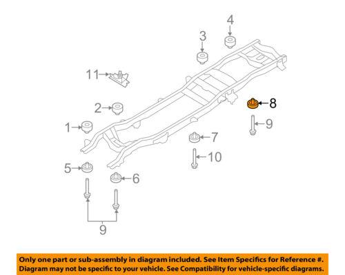 FORD OEM 08-16 F-250 Super Duty Frame-Lower Insulator 7C3Z1000155A