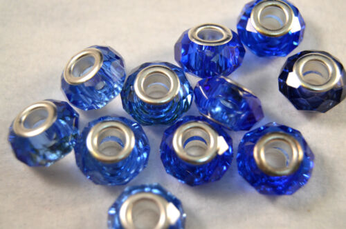 GLASS CHARM BEADS LAMPWORK VARIETY OF COLOURS FOR CHARM BRACELETS BEADS PA25Y