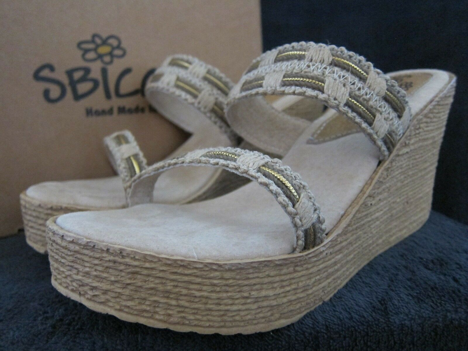 SBICCA Westridge Taupe Womens Wedge Sandals Heels shoes Size US 9 M NWB