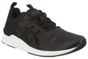 hot sale online 32a06 df6e3 ASICS Trainers Gel-lyte Runner Mens Black SNEAKERS UK 11