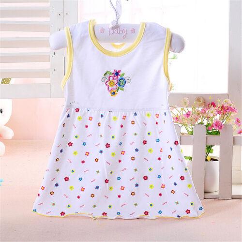 Baby-Mädchen-Baumwollregular Sleeveless Kleider Lässige Kleidung 0-24 Mona  G