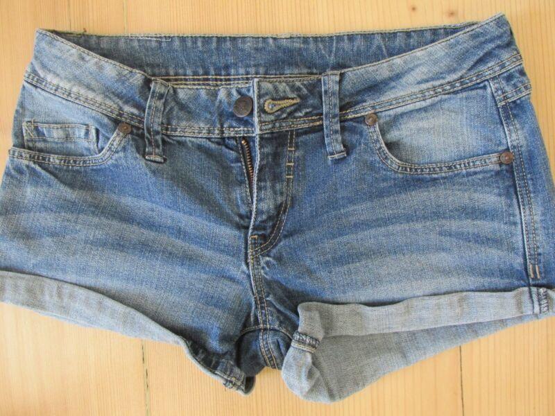Damen Jeans, Kurze Hose, Hot Pants, Hüftjeans - Gr. S / 36, Mng Jeans Husten Heilen Und Auswurf Erleichtern Und Heiserkeit Lindern