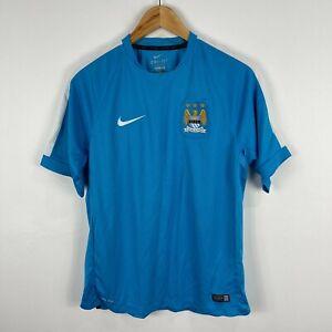 Nike-Manchester-City-Football-Jersey-Large-Slim-Asian-Size-Blue-Short-Sleeve