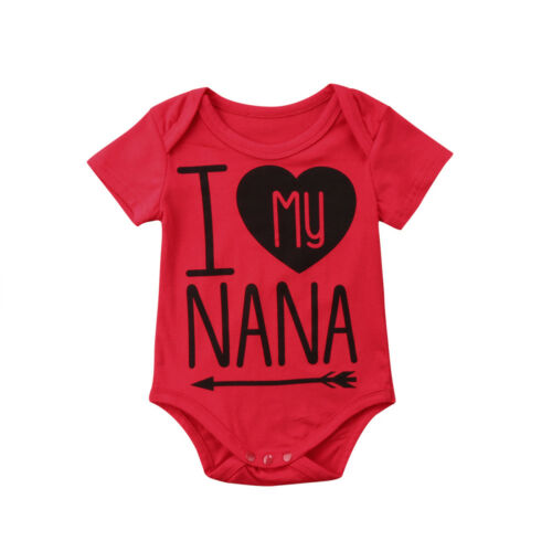 US Cute Newborn Baby Girl Boys Cotton Romper Jumpsuit Clothes Outfits Summer Mon