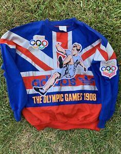 vtg-ADIDAS-Olympic-Games-1908-Sweatshirt-Crewneck-1948-London-Sports-Men-039-s-SZ-M