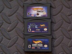 Lot Nintendo Game Boy Advance GBA Games Hot Wheels Titles 5