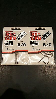 Tru-Turn 2 Packs 4 047ZS Size 5//0 Qty