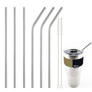 New-Stainless-Steel-Straws-Reusable-10-5-inch-Extra-Long-Drinking-Straws-SetYNFK