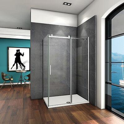 120x80X195cm Duschabtrennung Duschkabine Schiebetür Duschwand Dusche Echtglas SK