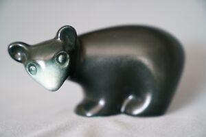 Vintage California Art Pottery Howard Pierce Bear Figurine Signed Excellent