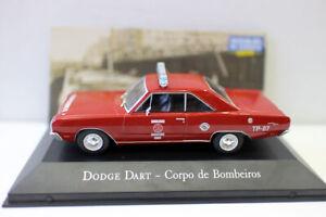 Echelle-1-43-Diecast-Voiture-Modele-Dodge-Dart-Corpo-de-Bombeiros-voiture-de-police