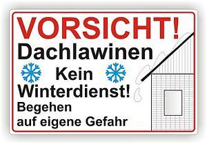 Bouclier/mise En Garde Attention Dachlawinen Aucun Service D'hiver 3mm Alu-federation. P51-afficher Le Titre D'origine RéTréCissable