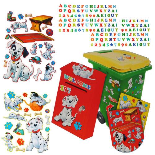 MAIL BOX-DISNEY 101 Dalmatian Dog 214 Pcs Set Sticker for TRASH CAN