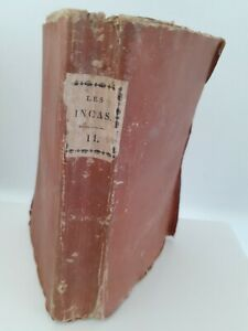 Las Inca O Destruction Imperio de La Perú M. Marmontel Tomo II Lyon 1822 Janon