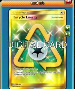 Recycle Energy SR SECRET RARE Pokemon TCG Online PTCGO 257//236 DIGITALCARD FAST