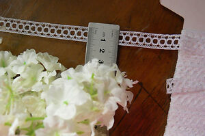 SILK-Lace-3mm-Ribbon-Thread-WHITE-13mm-Wide-3-Metre-Length