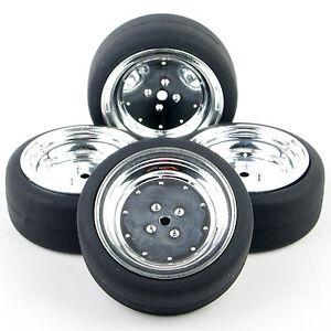 4Pcs-Drift-Neumaticos-y-ruedas-para-Hsp-Hpi-1-10-Scale-RC-coche-de-carretera-PP0338-PP0107