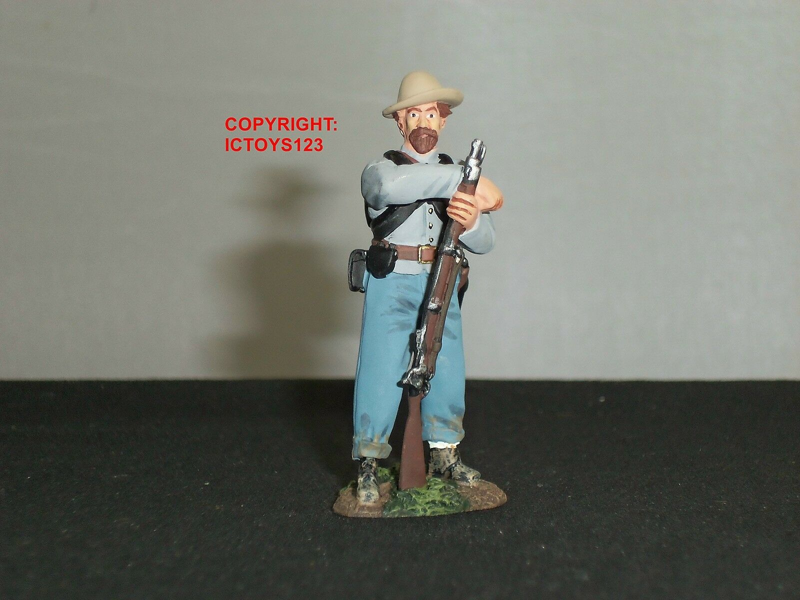 BRITAINS 17932 AMERICAN CONFEDERATE INFANTRY AT EASE METAL TOY SOLDIER FIGURE