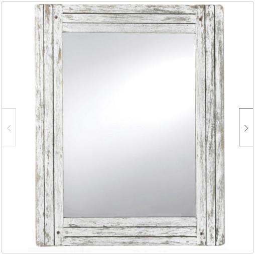 Farmhouse Wall Decor Mirror Rustic Bathroom Vanity Hallway Country Shabby Small For Sale Online Ebay