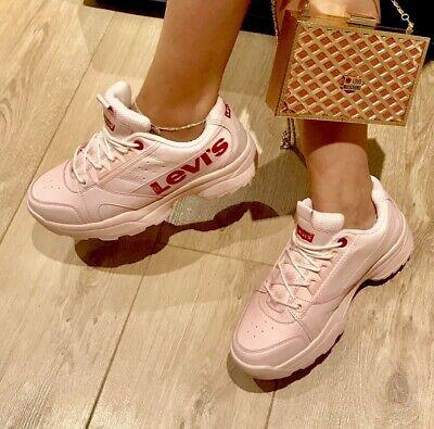 Levis Pink Soho Trainers | eBay