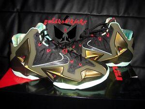 Nike LEBRON 11 XI Kings Pride Black Parachute green flightposite foam