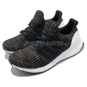 9465359172a adidas UltraBOOST 4.0 Black Multi-Color White Mens Running Shoes ...