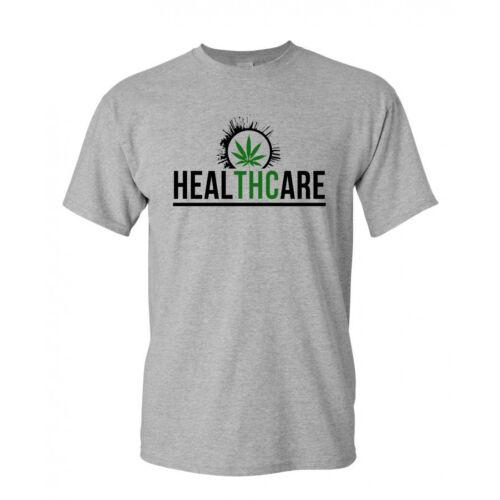 Cannabis T-shirt Healthcare t-shirt Marijuana THC Weed Shirt SM-2XL