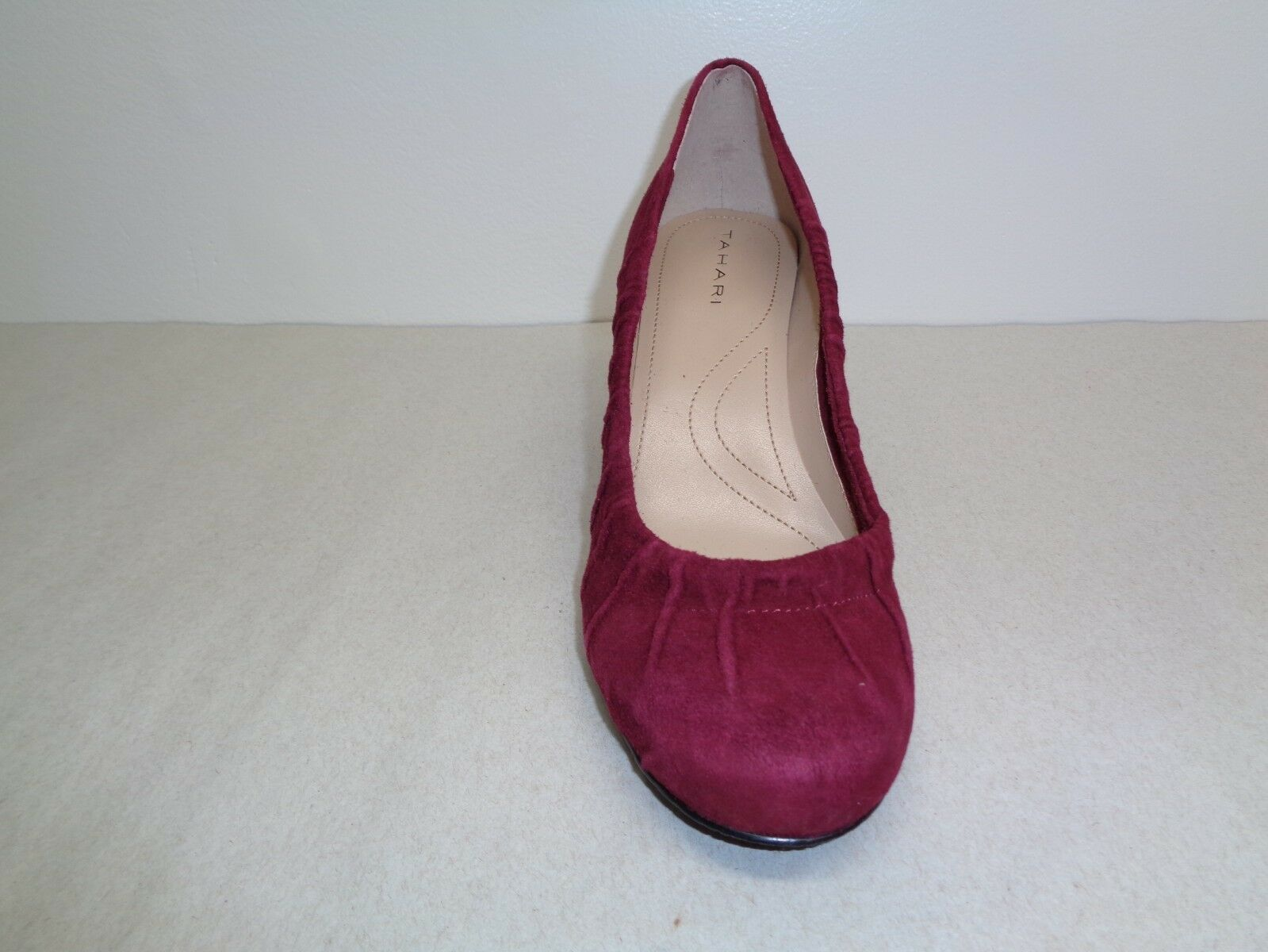 Tahari Größe 8 M ELIZABETH Canyon ROT Schuhes Suede Leder Heels Pumps New Damenschuhe Schuhes ROT 363fbe
