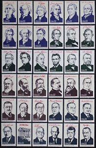 US-2216-19-1986-AMERIPEX-Presidents-Complete-Set-of-36-MINT-NH-Singles