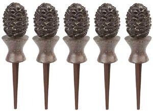 Bronze Liberty Garden 615 Decorative Pine Cone Garden Hose Guide
