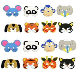 offizieller Verkauf Original kaufen Top Design Details zu 10x Tier 3D Maske Hund, Katze, Maus, uvm. für Kinder Geburtstag  Party Tiermasken