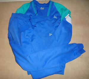 vintage italy 80`s PUMA Trainingsanzug Trainingsjacke Trainingshose Jogger M/L