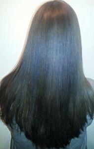 Trattamento alla cheratina su capelli lisci