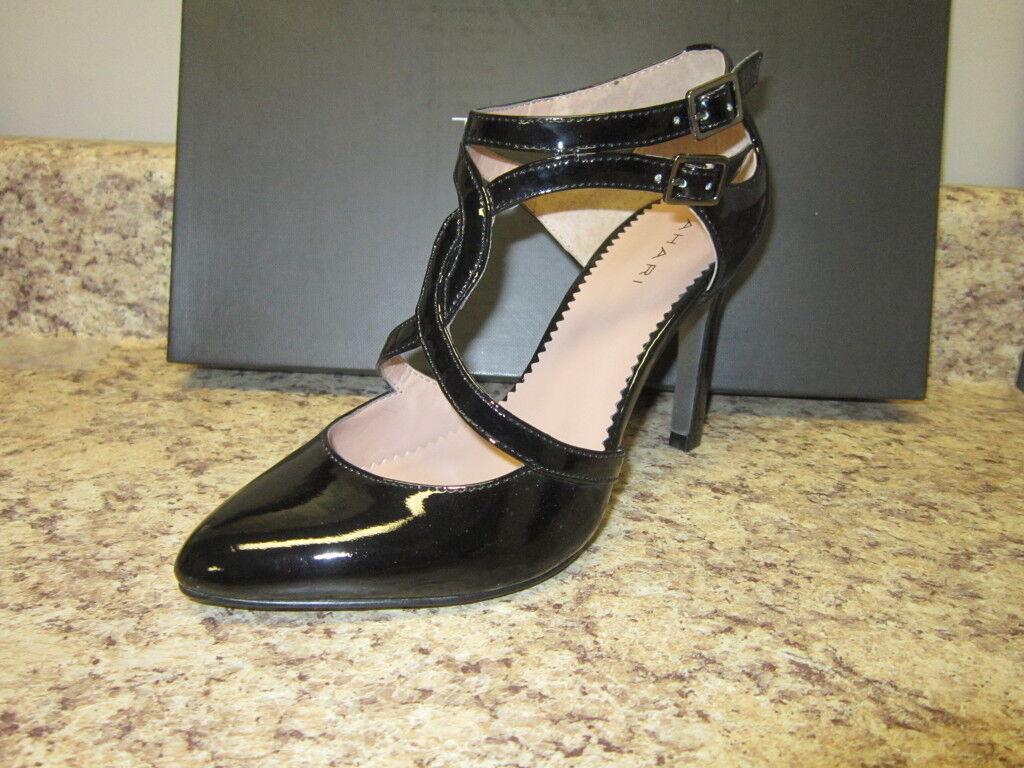 con il 60% di sconto Tahari Jamie Jamie Jamie nero Patent Leather Strappy Heels 5.5 M 112022 New in Box  garanzia di qualità