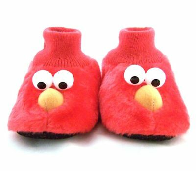 Sesame Street Elmo Toddler Girls Boys Slippers Size M L 7 8 9 10 Red Soft NWT