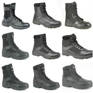 Mens-Boys-Security-Police-Patrol-Work-Boots-Hi-Leg-Combat-Occupational-Boots