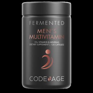 Men's Daily Multivitamin, 25+ Vitamins & Minerals, Fermented, Organic Whole Food