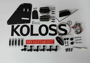 Koloss Low Gloss Black Aluminum Alloy Electric Guitar DIY Kit  GT-4 BLACK DIY 