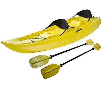 Manta Kayak Sit-On-Top Kayaks 10 ft  Yellow Water Craft Padded Seats + 2  Paddles 81483008516 | eBay