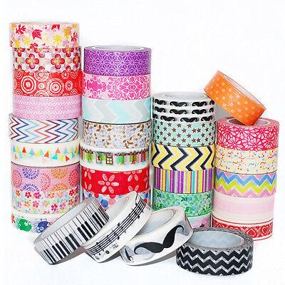 Sale Scrapbook Deco Washi Tape DIY Masking Adhesive Sticker Paper Tape 1.5cm*10M