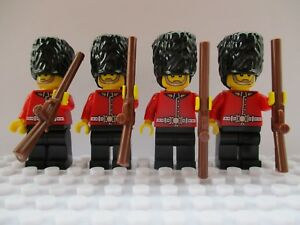Queens-London-Royal-Guards-Beefeaters-Soldiers-Custom-lego-City-Mini-Figures