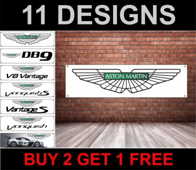 Aston Martin Drapeau pour Garage/Atelier/Promotionnel Objet