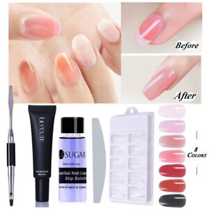 Image Is Loading 7pcs Set Poly Builder Gel Nail Tips Extension