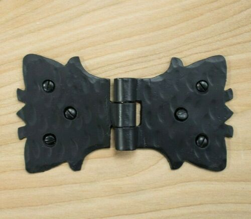 """4/"""" Decorative Butterfly Hinge For Furniture /& Small Gates Hand Forged in Mexico"""