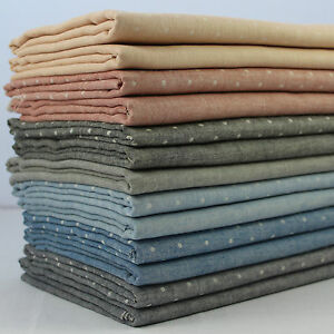 Double-Gauze-100-Cotton-Japanese-Fabric-Plains-amp-Dots-per-metre