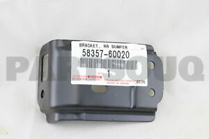 LH 52176-60020 REAR BUMPER ARM MOUNTING 5217660020 Genuine Toyota BRACKET