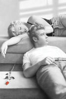 2013 Marilyn Monroe James Dean Relaxing Red Rose Poster 22x34 Free Shipping