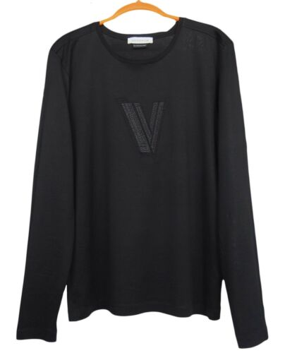 VERSACE Collection Mens Long Sleeve T-Shirt Cotton