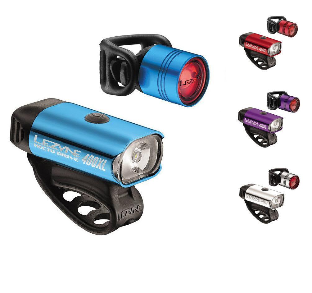 Lezyne Hecto Drive 400XL Headlight Femto Drive Bicycle Tail Light Set
